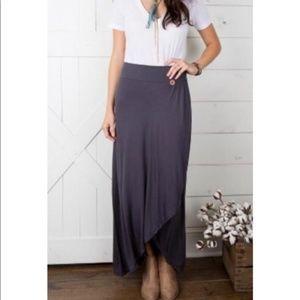 Matilda Jane Blue Faux Wrap Maxi Skirt